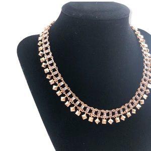 Kendra Scott Necklace Rose Gold Crystal
